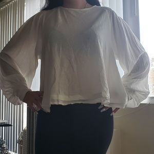 NWT Free People Ivory Billie TShirt